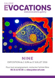 affiche NINE Galerie Evocations