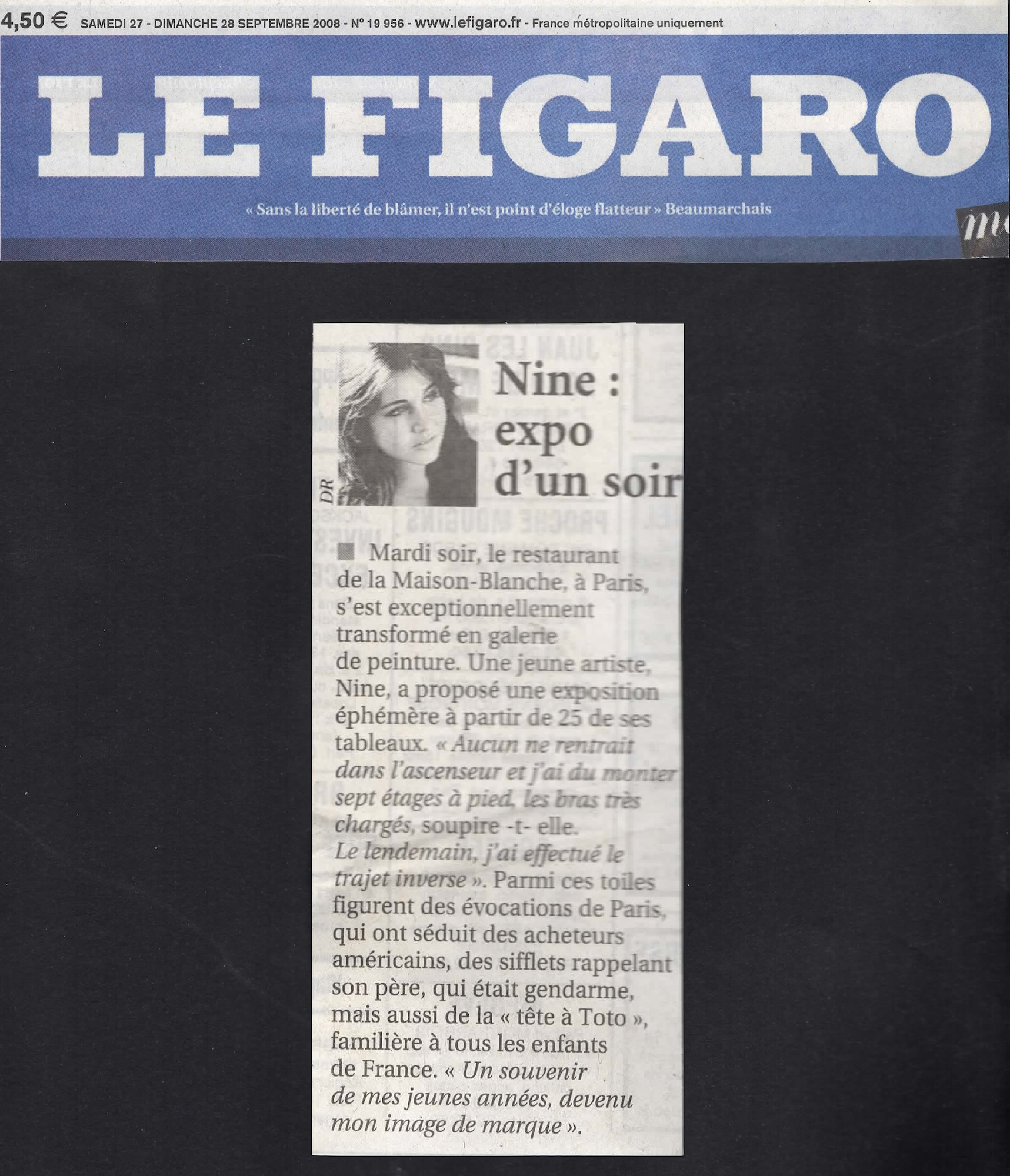 Nine - Le Figaro Septembre 2008